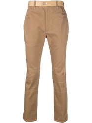 Julien David Overstitched Trousers Neutrals