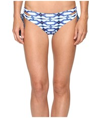Michael Michael Kors Summer Breeze Lace Up Euro Bikini Bottom New Navy Women's Swimwear