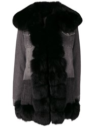 Philipp Plein Embroidered Contrast Coat Grey