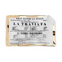 Fornasetti Locandina La Traviata Sheet Ashtray Trinket Tray