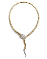 John Hardy Legends Cobra Collar Necklace With Diamonds