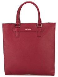 Dolce And Gabbana 'Mediterranean' Tote Red