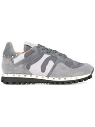 Valentino Rockrunner Camouflage Sneakers Grey