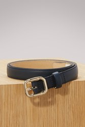 A.P.C. Leather Merima Belt Dark Navy