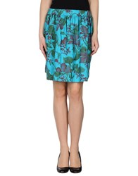 .. Merci Skirts Knee Length Skirts Women Turquoise