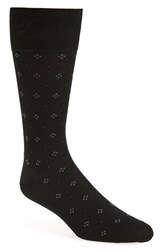 Men's John W. Nordstrom Diamond Socks Black Warm Grey