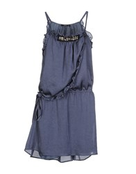 Ajay Short Dresses Slate Blue