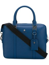 Versace Medusa Laptop Bag Blue