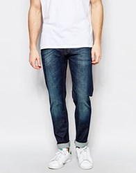 United Colors Of Benetton Indigo Jeans In Slim Fit Blue