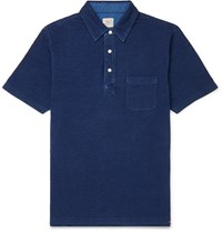 Faherty Garment Dyed Cotton Jersey Polo Shirt Blue