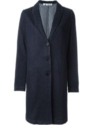 Barena Denim A Line Coat Blue