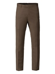 Limehaus Byron Olive Panama Skinny Fit Trousers Olive