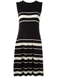 Chinti And Parker Pleated Knitted Dress Black