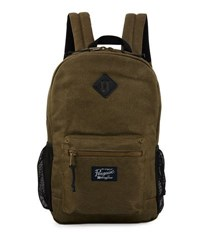 Original Penguin Waxed Canvas Backpack Dusty Olive