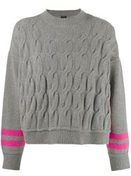 Pinko Twist Knit Jumper Grey