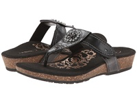 Aetrex Emily Sandalistas Lynco Footbed Black Women's Sandals