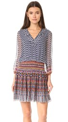 Shoshanna Rivington Dress Navy Multi