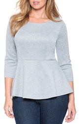 Plus Size Women's Eloquii Split Back Peplum Top