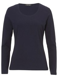 Betty Barclay Long Sleeve T Shirt Navy Blue