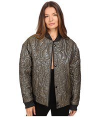 Just Cavalli Glitter Tiger Embroidered Oversized Bomber Gold
