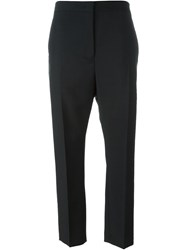 Jil Sander Back Slit Cropped Trousers Black