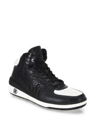 G Fore Snow Crusader Leather High Top Shoes Onyx