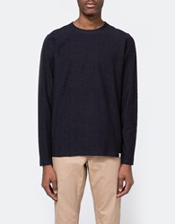 Norse Projects Niels Towelling Ls In Navy