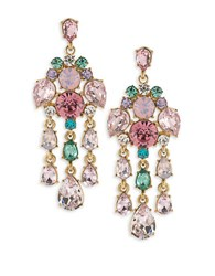 Carolee Garden Party Quartz Chandelier Earrings Gold