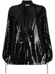 Amen Sequin Pussy Bow Blouse 60