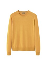 Mango Men's Cotton Cashmere Blend Sweater Yellow
