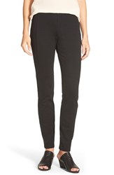 Petite Women's Eileen Fisher Slim Ponte Pants Black