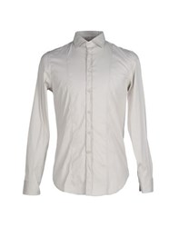 Paolo Pecora Shirts Shirts Men Light Grey