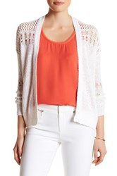Rebecca Taylor Textured Knit Cardigan White