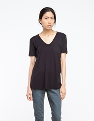 Alexander Wang Classic Tee With Pocket In Black