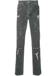 Givenchy Distressed Skinny Jeans Grey