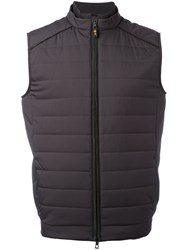Loro Piana High Neck Gilet Grey