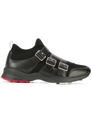 Christian Dior Homme Buckle Detail Hi Tops Black