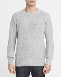 Revolution Grey Blend 6001 Rib Knit Fitted Round Neck Sweater