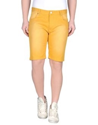 Solid Denim Bermudas Ocher
