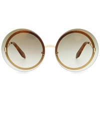 Victoria Beckham Floating Round Sunglasses Gold