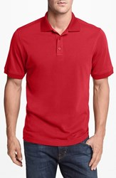 Men's Nordstrom Trim Fit Interlock Knit Polo Red Chili
