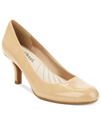 Easy Street Shoes Easy Street Passion Pumps Women's Shoes Taupe Patent