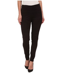 Lysse High Waist Suede Leggings Black Women's Casual Pants