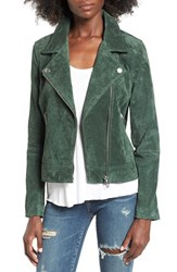 Blank Nyc Women's Blanknyc Suede Moto Jacket With Detachable Faux Fur Collar