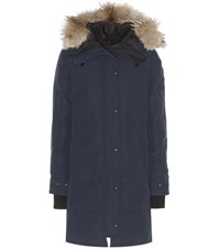 Canada Goose Shelburne Fur Trimmed Down Coat Blue