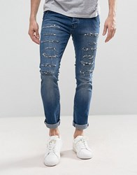 Loyalty And Faith Doric Ripped Skinny Jeans In Stone Wash Blue