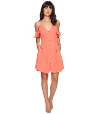 Astr The Label Gabriella Dress Hot Coral Women's Dress Red