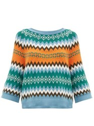 Max Mara Weekend Sand Sweater Green Multi