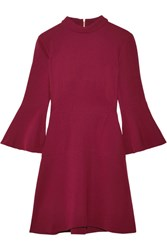 Rachel Zoe Califa Crepe Turtleneck Mini Dress Burgundy