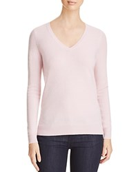 Bloomingdale's C By V Neck Cashmere Sweater Ballet Slipper
